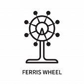 Ferris Wheel Icon Isolated On White Background. Ferris Wheel Icon Simple Sign. Ferris Wheel Icon Tre poster