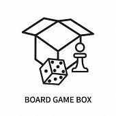 Board Game Box Icon Isolated On White Background. Board Game Box Icon Simple Sign. Board Game Box Ic poster