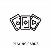 Playing Cards Icon Isolated On White Background. Playing Cards Icon Simple Sign. Playing Cards Icon  poster