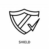 Shield Icon Isolated On White Background. Shield Icon Simple Sign. Shield Icon Trendy And Modern Sym poster