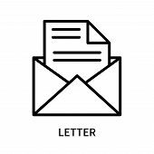 Letter Icon Isolated On White Background. Letter Icon Simple Sign. Letter Icon Trendy And Modern Sym poster