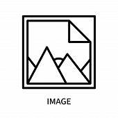 Image Icon Isolated On White Background. Image Icon Simple Sign. Image Icon Trendy And Modern Symbol poster