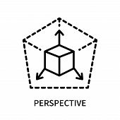 Perspective Icon Isolated On White Background. Perspective Icon Simple Sign. Perspective Icon Trendy poster