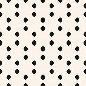 Polka Dot Seamless Pattern. Simple Minimalist Black And White Background. Vector Monochrome Subtle T poster