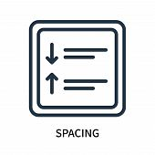 Spacing Icon Isolated On White Background. Spacing Icon Simple Sign. Spacing Icon Trendy And Modern  poster