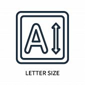 Letter Size Icon Isolated On White Background. Letter Size Icon Simple Sign. Letter Size Icon Trendy poster