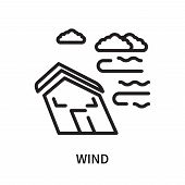 Wind Icon Isolated On White Background. Wind Icon Simple Sign. Wind Icon Trendy And Modern Symbol Fo poster