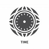 Time Icon Isolated On White Background. Time Icon Simple Sign. Time Icon Trendy And Modern Symbol Fo poster