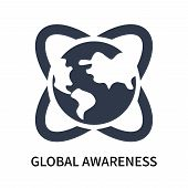 Global Awareness Icon Isolated On White Background. Global Awareness Icon Simple Sign. Global Awaren poster