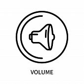 Volume Icon Isolated On White Background. Volume Icon Simple Sign. Volume Icon Trendy And Modern Sym poster