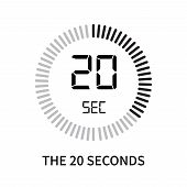 The 20 Seconds Icon Isolated On White Background. The 20 Seconds Icon Simple Sign. The 20 Seconds Ic poster