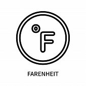 Farenheit Icon Isolated On White Background. Farenheit Icon Simple Sign. Farenheit Icon Trendy And M poster