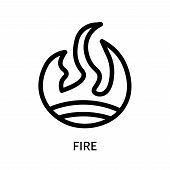 Fire Icon Isolated On White Background. Fire Icon Simple Sign. Fire Icon Trendy And Modern Symbol Fo poster