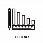 Efficiency Icon Isolated On White Background. Efficiency Icon Simple Sign. Efficiency Icon Trendy An poster