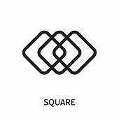 Square Icon Isolated On White Background. Square Icon Simple Sign. Square Icon Trendy And Modern Sym poster