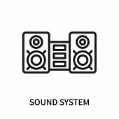 Sound System Icon Isolated On White Background. Sound System Icon Simple Sign. Sound System Icon Tre poster