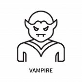 Vampire Icon Isolated On White Background. Vampire Icon Simple Sign. Vampire Icon Trendy And Modern  poster