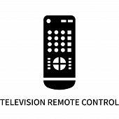 Television Remote Control Icon Isolated On White Background. Television Remote Control Icon Simple S poster