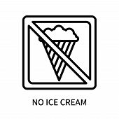 No Ice Cream Icon Isolated On White Background. No Ice Cream Icon Simple Sign. No Ice Cream Icon Tre poster