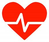 Heart Pulse Vector Icon Symbol. Flat Pictogram Is Isolated On A White Background. Heart Pulse Pictog poster