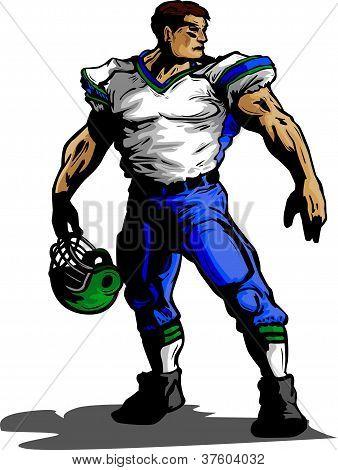 Futbolista en uniforme Vector Illustration
