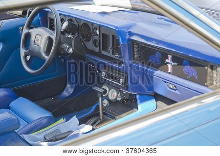 1980 Blue Ford Mustang Interior