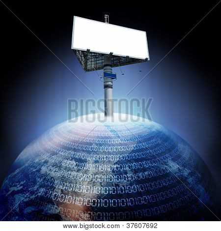 Digital Earth And Billboard