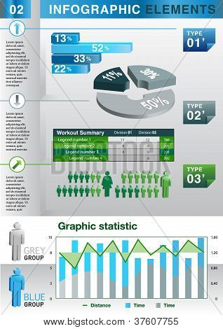 INFO GRAPHIC graph pie chart ELEMENT