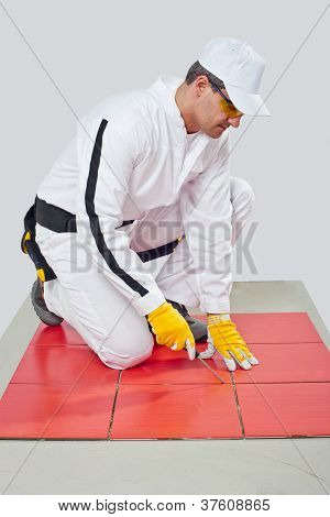 Sharp Tool Clean Spaces Between Tiles Remove Tile Adhesive