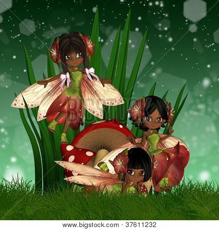Cute African American Fairies
