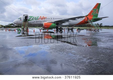 Zest Air Airliner Kalibo Airport Philippines