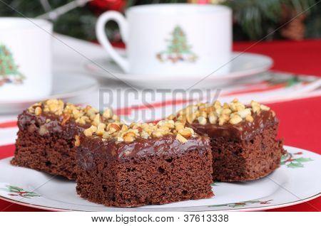 Christmas Fudge Brownies
