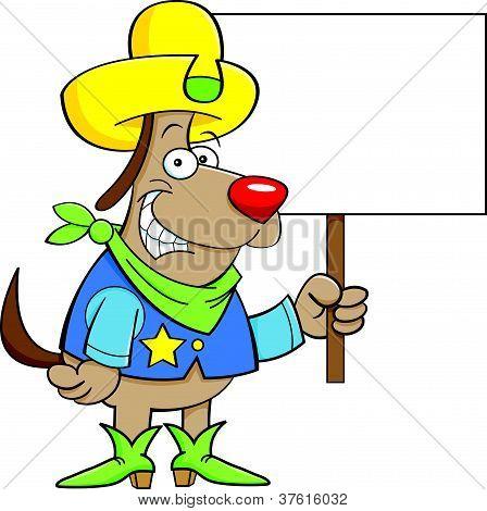 Cão de vaqueiro com um sinal