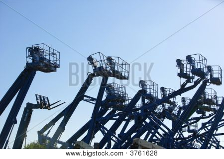 A Construction Site Filled With Lifts