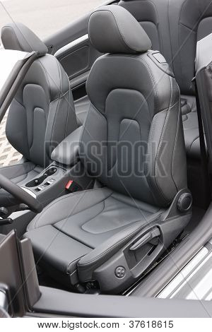 Convertible Black Leather Seats