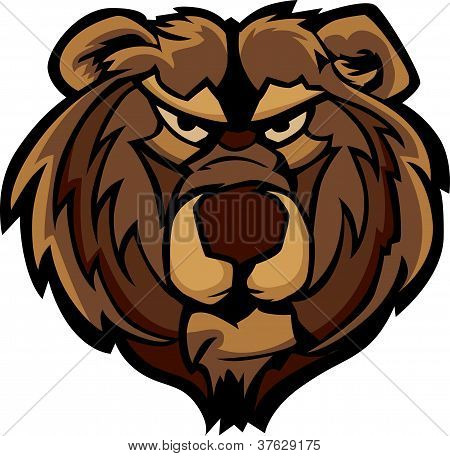 Vector Graphic Of Grizzly Bear Mascot Head
