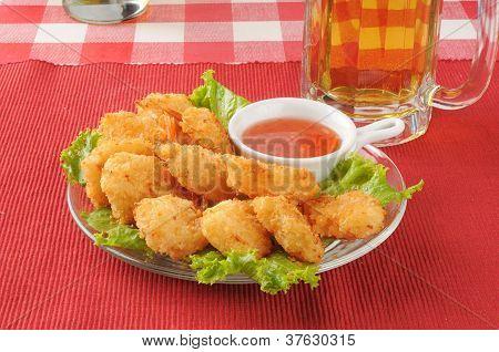 Shrimp Wiht A Mug Of Beer