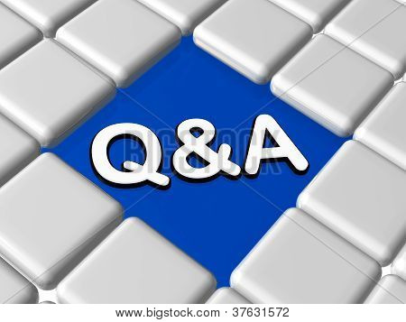 Blue Q&a Sign In Boxes
