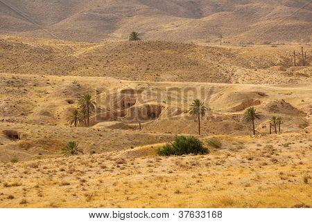 Dwelling Berbers Troglodytes Around Matmata, Tunisia