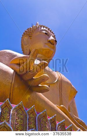 Big Golden Buddha At Wat Sing Buri  Province, Thailand