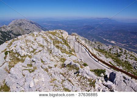 Mountain Road In Biokovo Nature Park