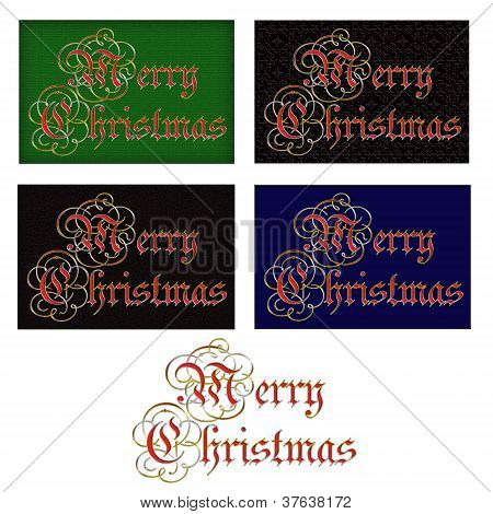 Merry Christmas Tags Or Heading