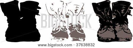 Combat Boots Stencil