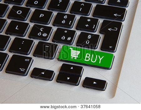 Computer Keyboard - Glowing Buy Key