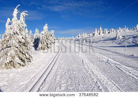 ski trail on jesenik mountain