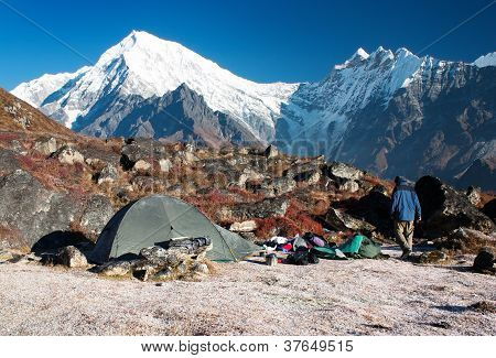 Langtang piek en camping