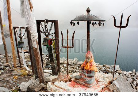 Gosainkund lake -religion place for buddhists and hinduists - langtang national park - nepal