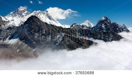 Ansicht des Mount Everest vom Gokyo ri