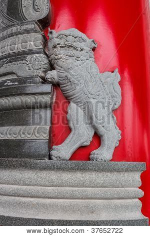 Sculpture Of Chinese Lion