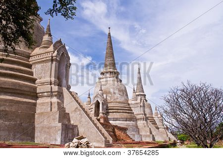 Pagoda At Ayutthaya Temple, Thailand